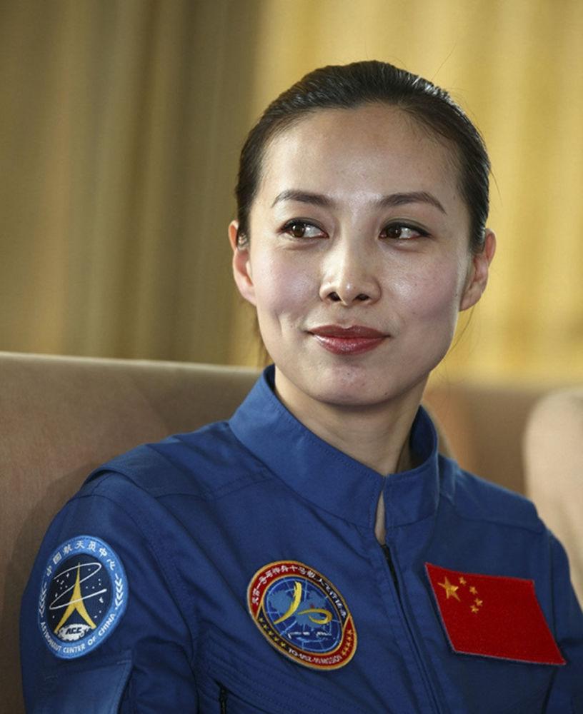 中国女宇航员王亚平。