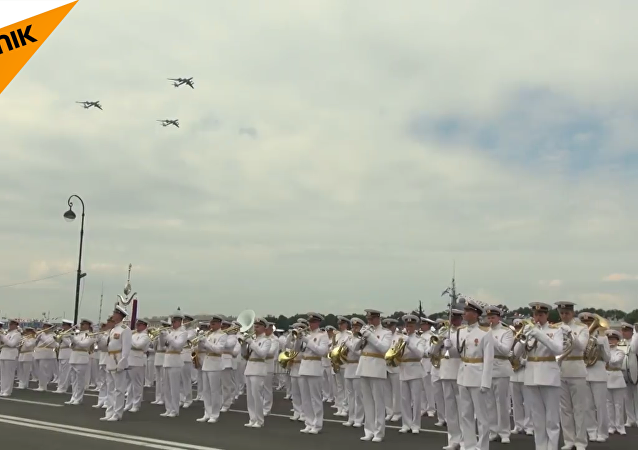圣彼得堡海军阅兵总彩排