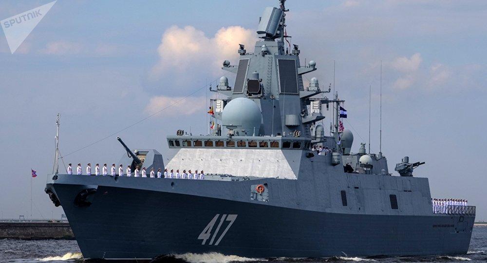 俄新型导弹护卫舰戈尔什科夫海军上将号