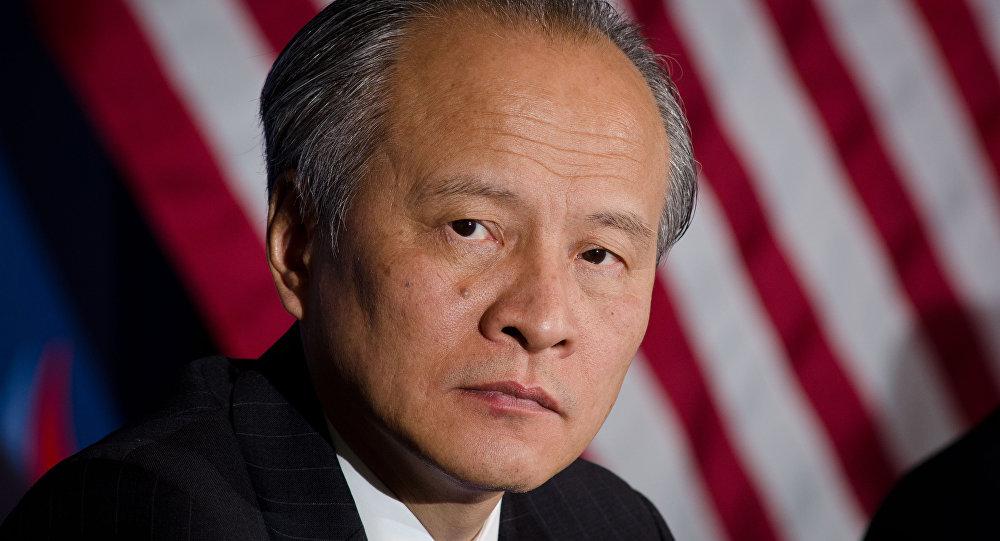 中国驻美大使馆及大使崔天凯开通Twitter账号