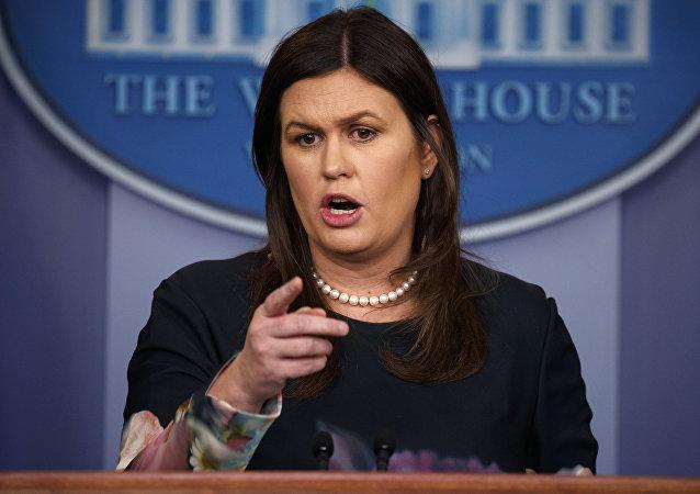 白宫新闻秘书萨拉∙桑德斯