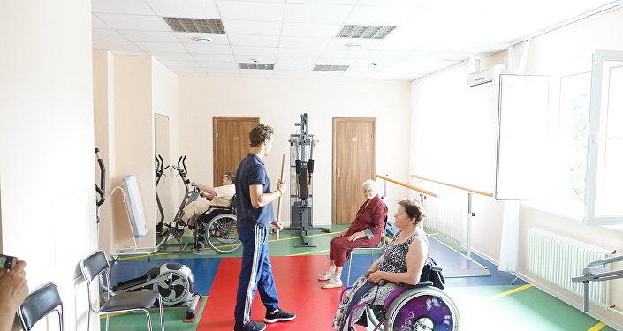 莫斯科第三十一老職工養老院,健身房