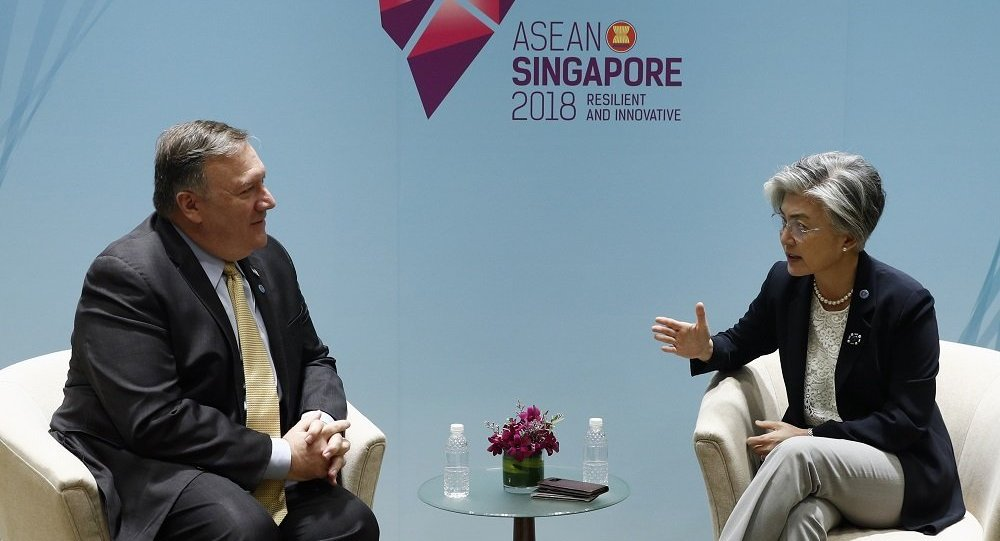 美韩外长在东盟外长会议上讨论对朝制裁问题