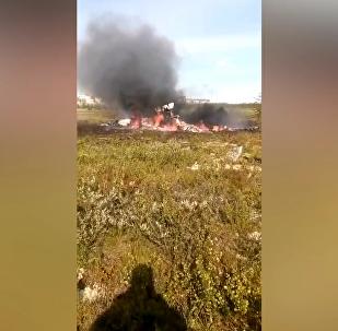 米-8直升机在克拉斯诺亚尔斯克边疆区坠毁