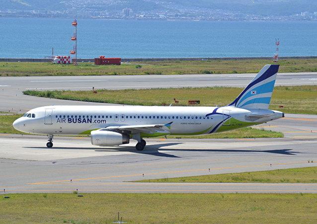 釜山航空公司的A320客機