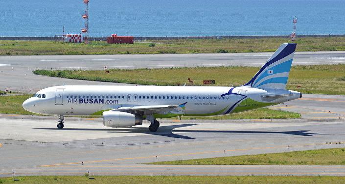 釜山航空公司的A320客机