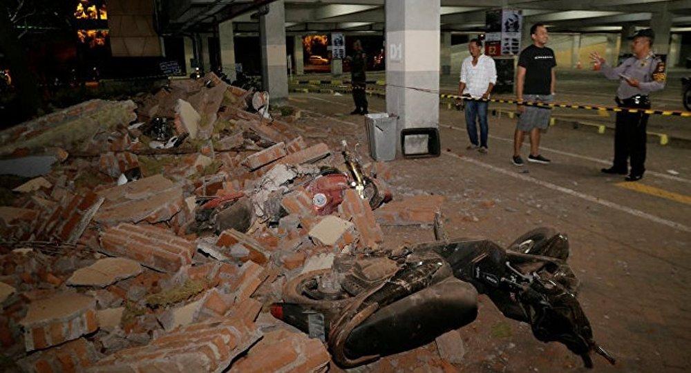 印尼地震死亡人數已升至387人