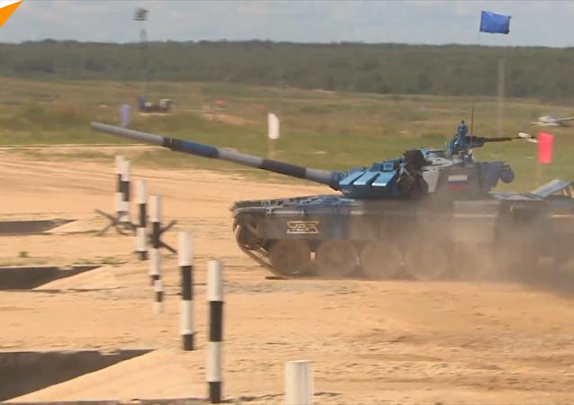 """""""坦克两项""""第一阶段比赛结束"""