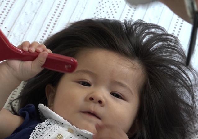 日本小小长发公主