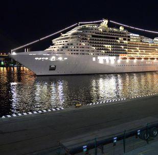 地中海辉煌号邮轮抵达符拉迪沃斯托克