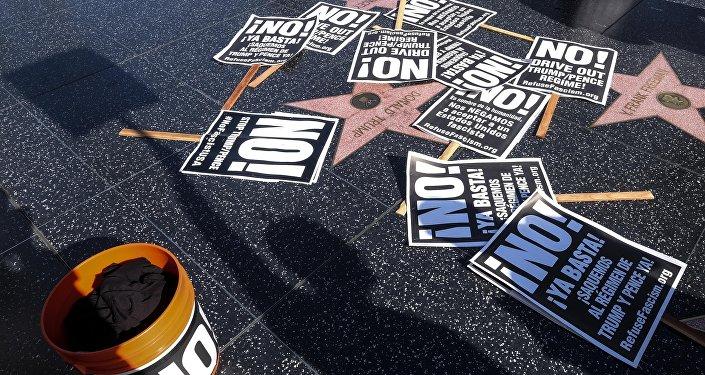 媒體:美國西好萊塢市欲摘除星光大道上的「特朗普之星」