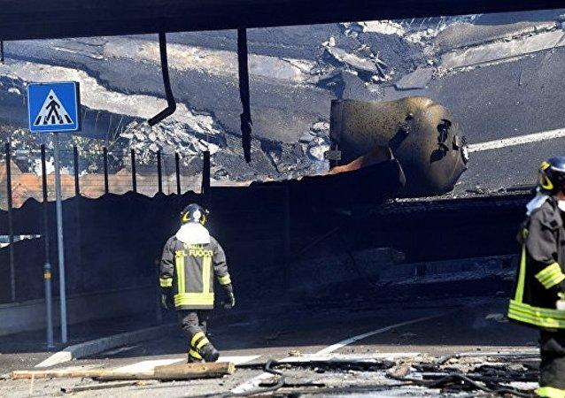 意大利博洛尼亚油罐车爆炸事故伤者增至145人