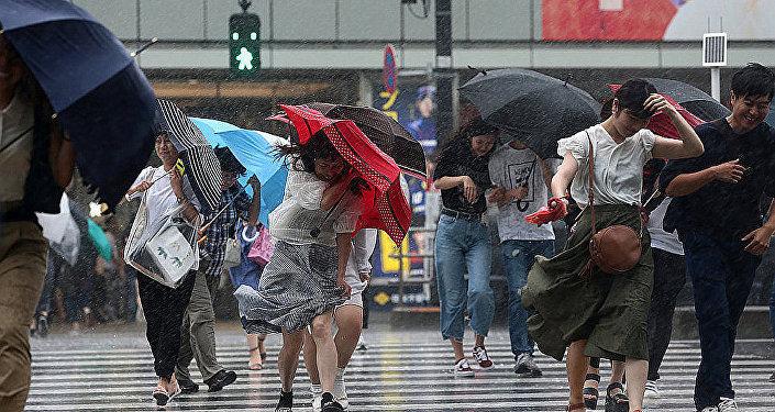 颱風掠過日本
