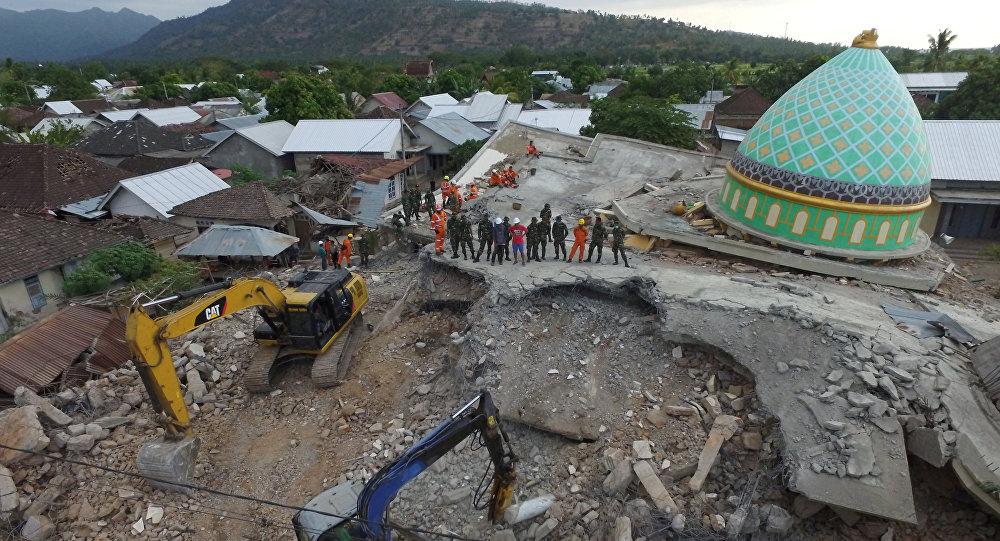 印尼地震所造成的死亡人数超过430人