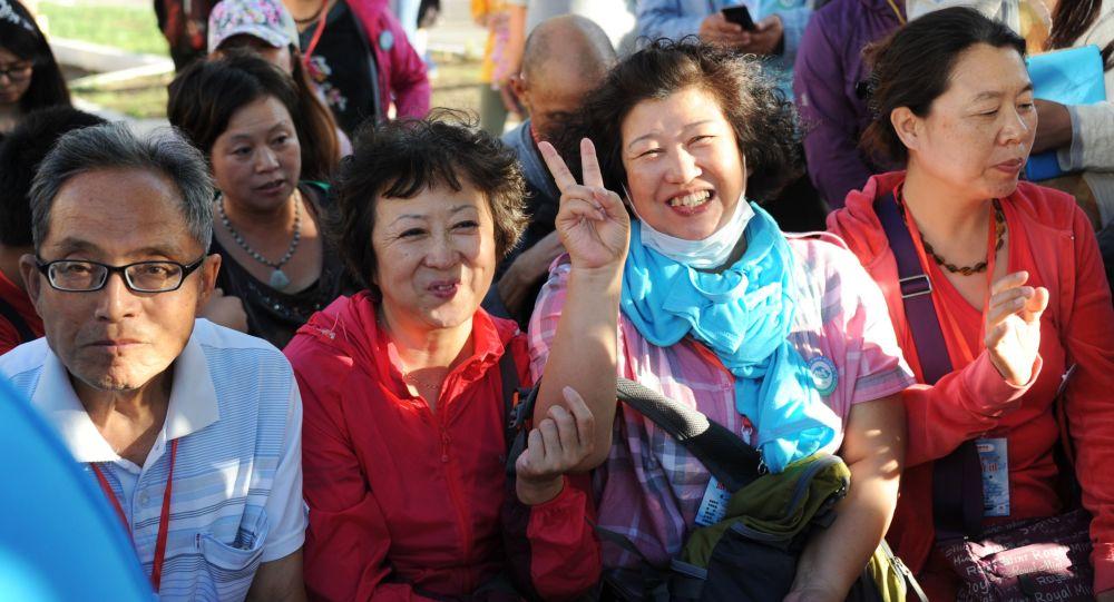 中國遊客在外貝加爾斯克鎮