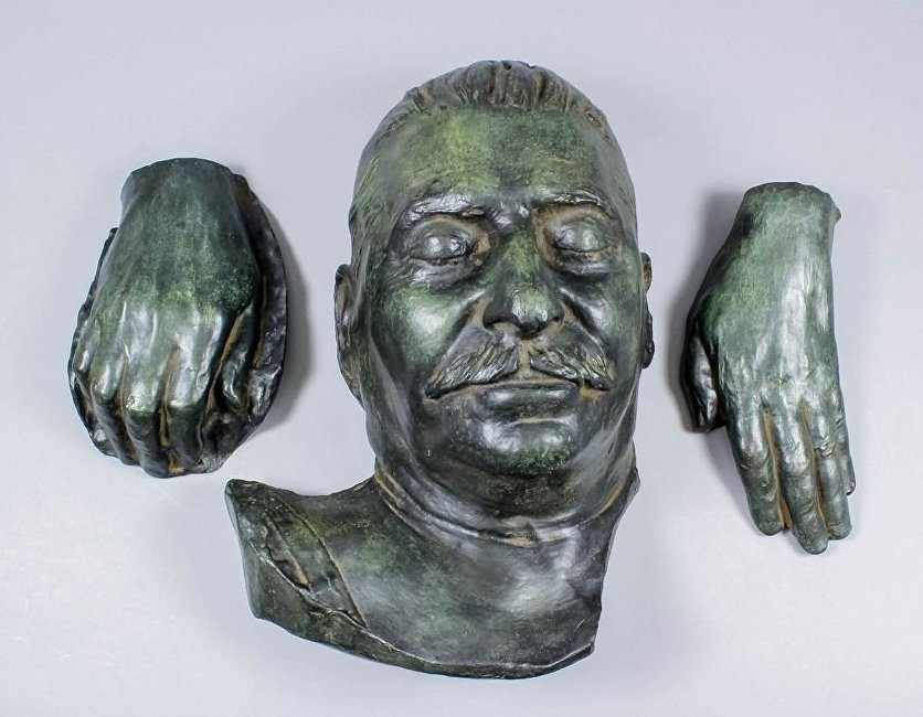 斯大林的死亡面具在英国拍卖出售