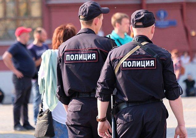 莫斯科警察(资料图片)