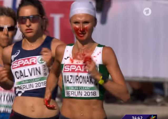 血灑賽場的白俄羅斯長跑運動員在歐洲田徑錦標賽的馬拉松項目上奪冠