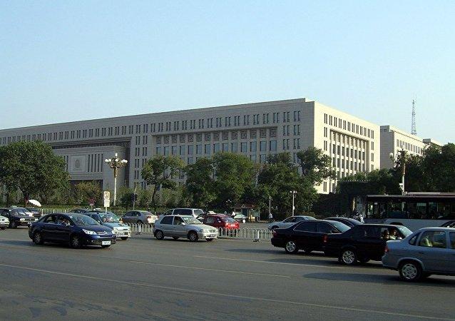 位於長安街旁的中華人民共和國公安部大樓