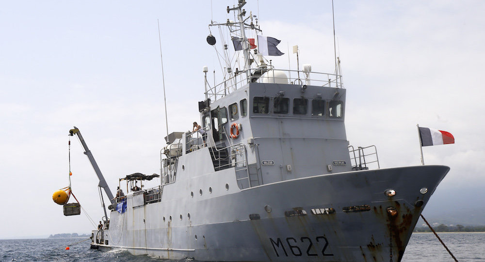 一枚二戰時的德國水雷被法國漁船撈起