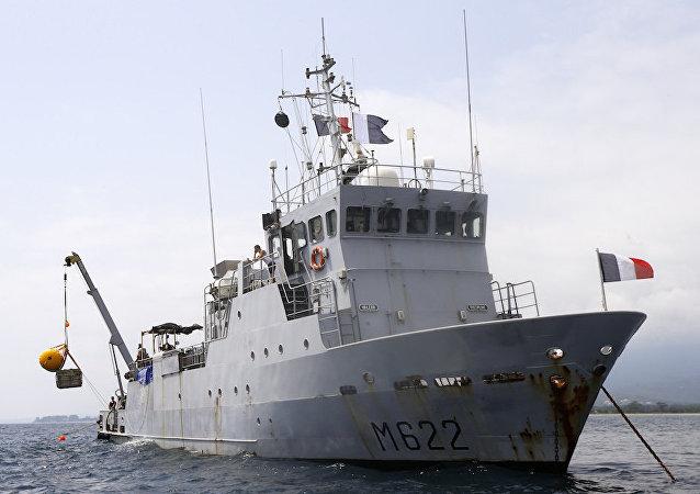 一枚二战时的德国水雷被法国渔船捞起