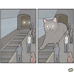 莫斯科工程師繪制了國民的生活漫畫