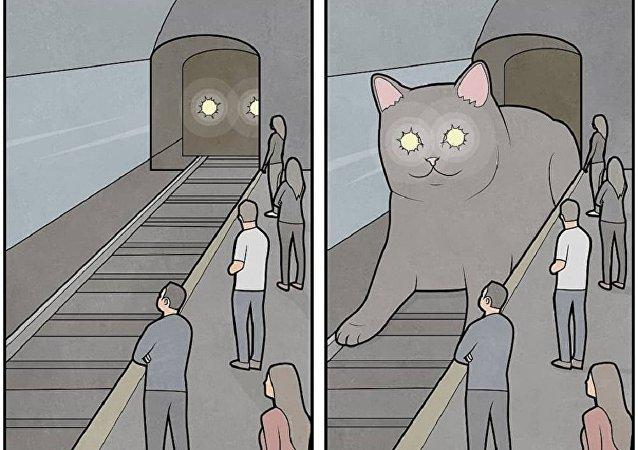 莫斯科工程师绘制了国民的生活漫画