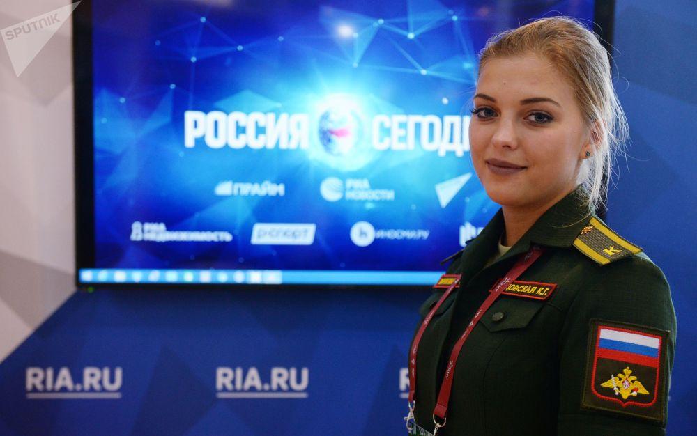 军队-2018论坛上的今日俄罗斯国际新闻通讯社展台