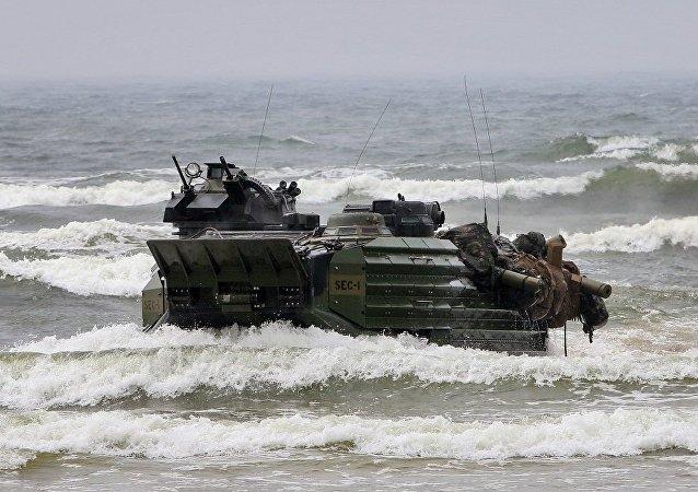 北约军事演习(图片资料)