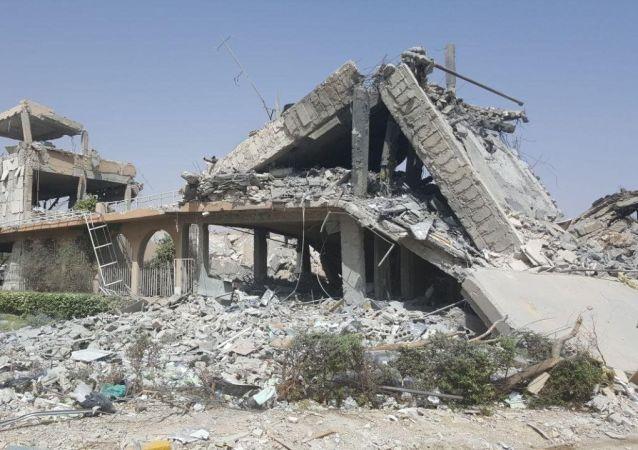 Исследовательский центр в Сирии, разрушенный в результате авиаударов коалиции США и их союзников