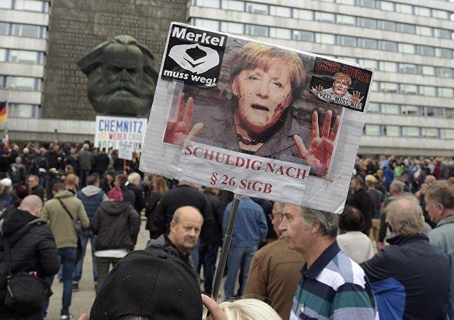 德國警方:開姆尼茨示威活動約300人被捕