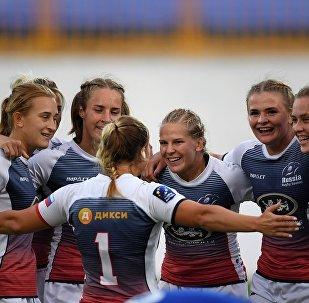 俄罗斯七人制橄榄球女队击败法国成为欧洲冠军