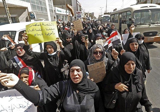 伊拉克,巴士拉,示威