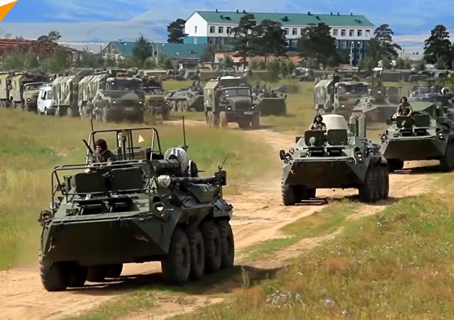 """坦克、步兵战车、直升机、飞机、防空系统:""""东方-2018""""最大规模军演在远东启动"""