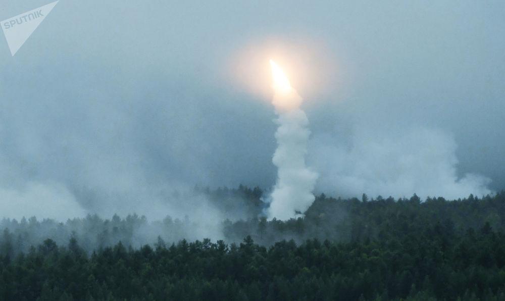 在東方-2018演習框架下進行的實彈射擊