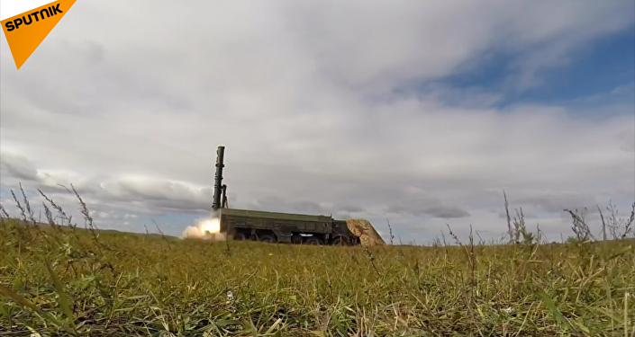 在「東方-2018」演習中展示了「伊斯坎德爾-M」導彈系統