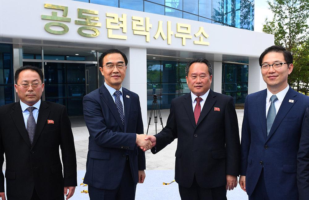 韩朝联络办公室在朝鲜开城工业园区正式揭牌
