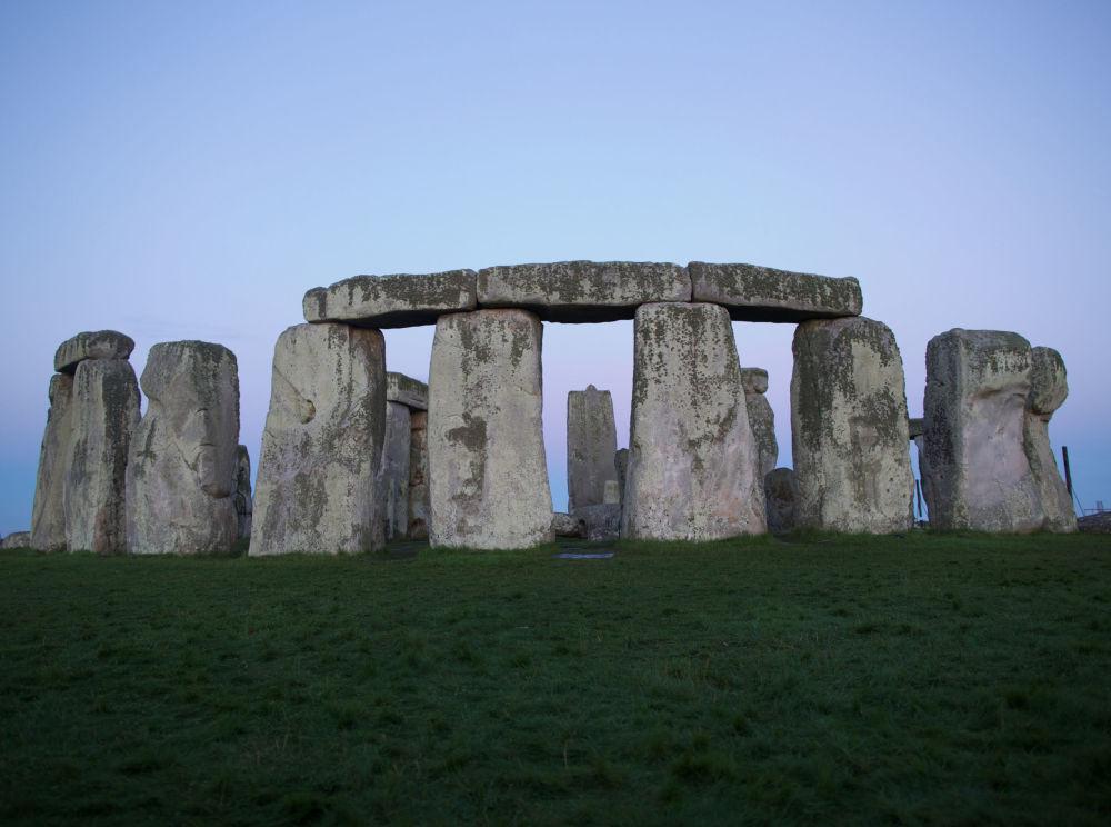 被列入世界遗产名单的巨石阵,位于索尔兹伯里附近