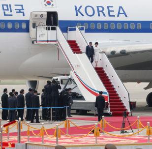 韓國總統文在寅抵達平壤