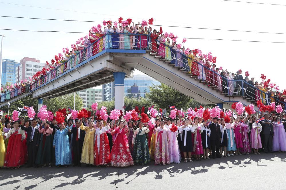 朝鲜公民接待文在寅