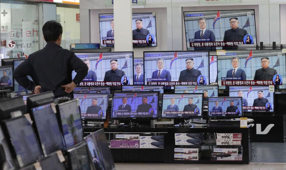 朝韩领导人会谈直播