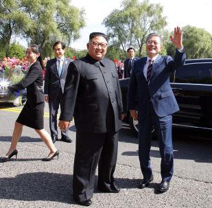 朝韩领导人会谈第一天