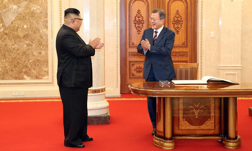 朝韩领导人进行会谈