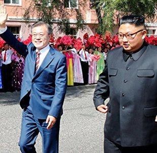 朝韩领导人商定周四攀登位于中朝边境的圣山长白山