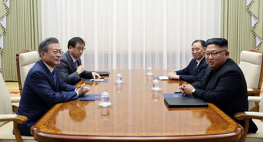 韓國總統府代表稱,朝韓領導人實際上已宣佈結束戰爭狀態