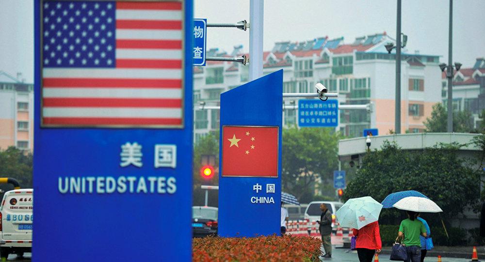 美、中国旗