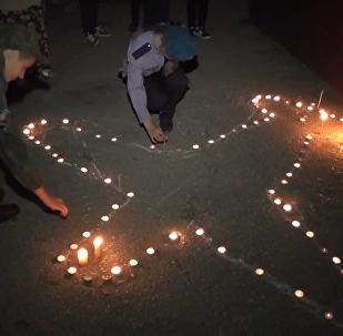 塞瓦斯托波尔国际机场为伊尔-20遇难机组人员举行哀悼活动