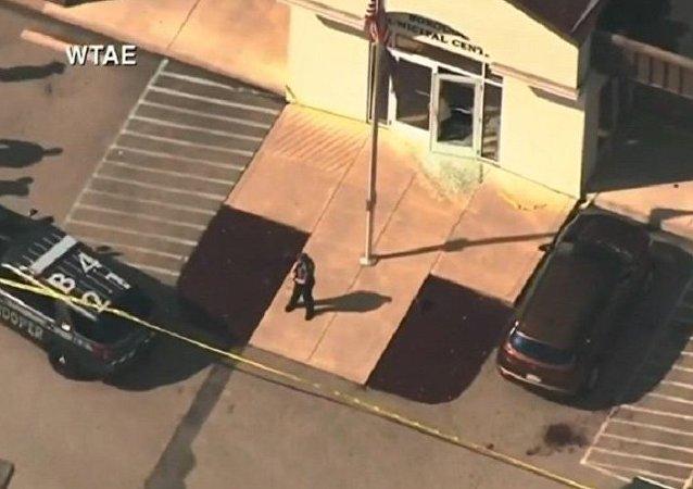 美国法院枪击事件致4人受伤 枪手被击毙