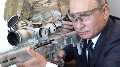 俄罗斯总统普京在爱国者花园