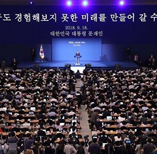 韓國總統表示,將向特朗普轉交金正恩信函